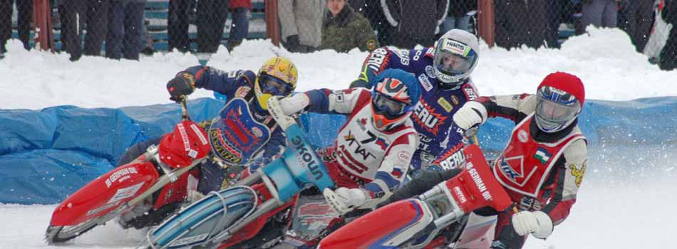Motorcycle racing on ice